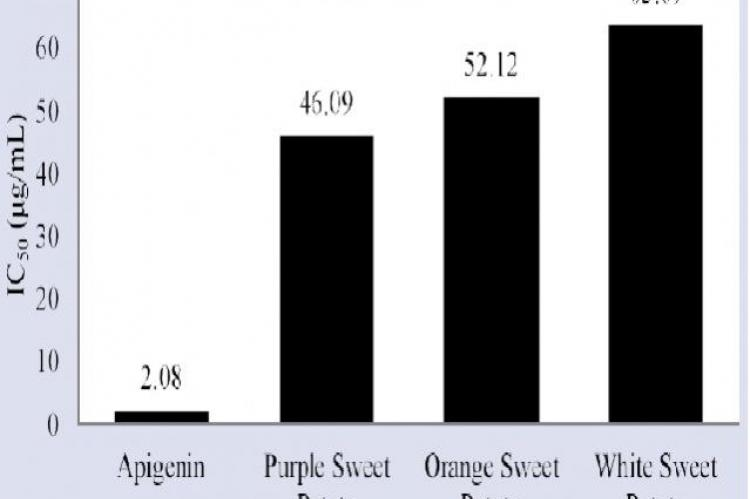 Results of inhibition of lipoxygenase activity by standard and extracts