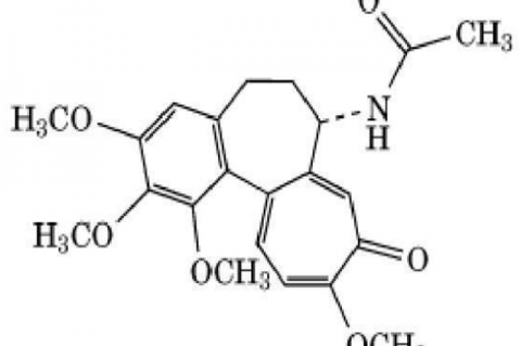 The chemical structure of colchicine.